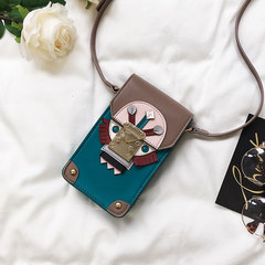Ins explosion models package 2017 new tide summer small bag mini mobile phone bag Crossbody Bag Korean stitching color blue