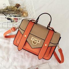 Small bag 2017 female Mini Crossbody Bag bag new summer color small portable bag bag Khaki with brown