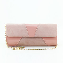 The new fashion stitching simple lady, hand bag, dinner package bride Bao Xiaobao Pink