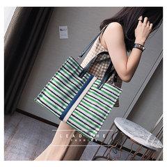 Single shoulder bag 2017 new striped canvas Satchel Bag campus large travel bag Mommy