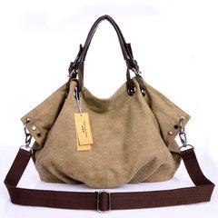 Autumn and winter canvas bag ladies handbag shoulder bag messenger bag bag bag big 2016 Korean fashion