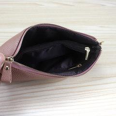 2017, new leather purse, women's zipper, hand bag, European and American wind, mobile phone bag tide fashion