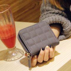 Korean Mini Purse, short zipper, student money, eighty percent off short wallet card, cute Wallet