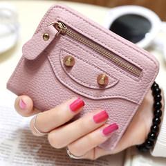 Japan and Korea ultra-thin purse, lovely short zipper wallet, eighty percent off small fresh student hasp, soft face, little Wallet