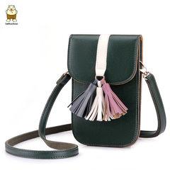 The new girl Kennedy bag retro tassel mobile phone bag hanging Neck Wallet Mini Bag Shoulder Satchel adorable