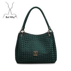ButWhy new fashion handbag simple leisure woven bags woven handbag shoulder bag bag trend