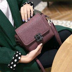 Casual handbag diagonal small bag 2017 spring tide new Korean Vintage Handbag Shoulder Bag Messenger Bag lock