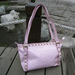 Special offer gouache bright surface ladies handbag shoulder bag for export rivet ladies leisure bag bag shopping street