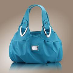2016 new summer handbag women`s handbag women`s handbag women`s print flower bag retro bag pastel blue
