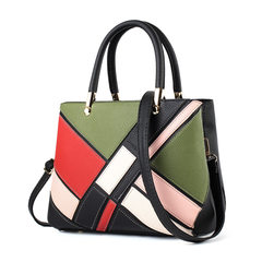 2017, Europe and America bump color large capacity, single shoulder foreign trade shopping, portable leisure Women brand, mummy gift bag tide Mo Portable Black