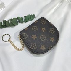 Small wallet, 2017 new female students, short Korean version, mini personality stamp, zipper coin, retro zero wallet Reading free shipping insurance