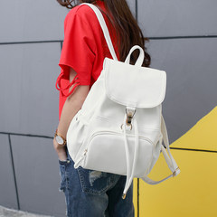 2017 new fashion white backpack bag simple Korean tide package of tourism and leisure all-match college wind