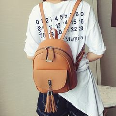 2017 new backpack female Korean all-match casual backpack bag simple mini bag lady school wind