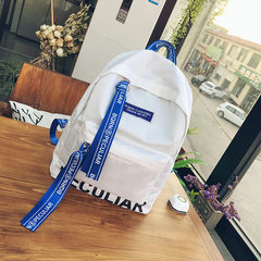 2017 new college students are the wind Canvas Backpack simple and elegant fashion personality