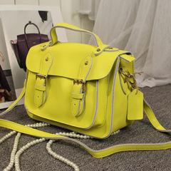 2017 new leather, cowhide, Cambridge bag, English College wind mail bag, leather retro ladies, portable oblique cross bag
