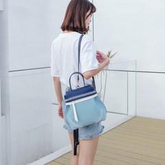 2017 new Korean summer backpack female tide hit color with small backpack bag ladies handbag shoulder Bucket Bag