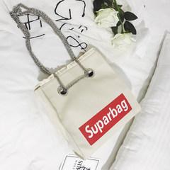 2017 new bags printed portable canvas bag Korea ulzzang all-match Crossbody Bag simple single shoulder bag