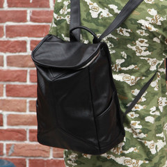 Casual men's shoulder pack, Korean Edition Student Book, leather man bag, fashion sports, travel bag, computer, Bao Chaonan