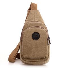Korean men's casual male chest pack package bag canvas pockets small bag women bag backpack sport Satchel