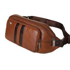 Jin Shanhu men's leisure bag, Korean style outdoor leather purse, tide men's bag, shoulder leather, chest bag, satchel