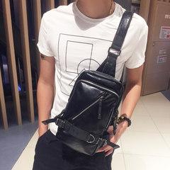 Chest pack casual bags, fashion trend of Korean men's shoulder bag bag bag all-match Chaonan multi zipper design