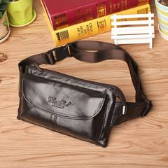 Hi show outdoor sports, leather purse, leather chest bag, men's purse, invisible slim men's bag, mobile phone bag