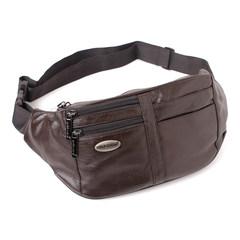 Jin Shanhu head layer, cowhide bag, male bag, leather chest bag, outdoor sports bag, Korean version, casual shoulder bag, chest bag