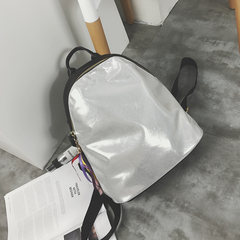 2017 new handbag color large capacity backpack Korean female college student backpack bag leisure all-match wind Silver Pendant