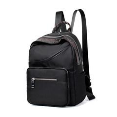 Ladies backpack 2017, new Korean version, large capacity Oxford cloth tour, shoulder bag waterproof Institute, wind student bag Black red