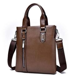 送手包男包单肩包商务包皮包手提包竖款斜挎包休闲背包潮男士包包 卡其色,单包