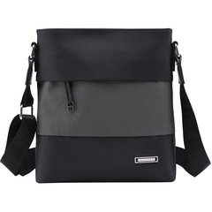 The new winter, Paul fashion casual shoulder slope, men's sports bags, canvas back bag Black matching blue