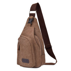New men's chest bag trend of Korean casual canvas bags men male Satchel Bag chest tide bag Large army green