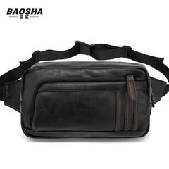 The new male shark treasure chest pack Korean casual bag shoulder bag messenger bag bag bag small pockets Black