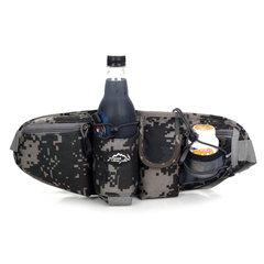 New men's pocket waterproof leisure mountaineering bag, outdoor purse, multi-functional tourist kettle, purse, sports bag Fan color