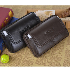 Men's leather purse, cowhide 6/6.3/6.5 inches, Samsung apple 6plus/, HUAWEI mate8 Mobile Wallet Brown Leather