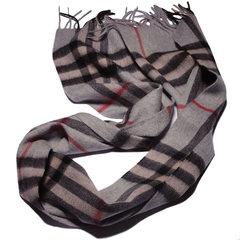 精选 欧洲加密精织羊绒混纺经典格流苏 羊毛围巾