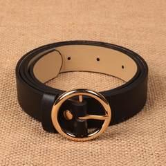 Retro minimalist black drawstring waist band girdle female decorative waist was thin elastic wear wide belt