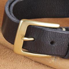 Men's needle buckle retro head layer cowhide belt all-match pure male cowboy copper belt buckle 3.3cm 105cm