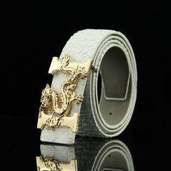 Men belt belt buckle youth version smooth belt 1lv lattice board leisure business