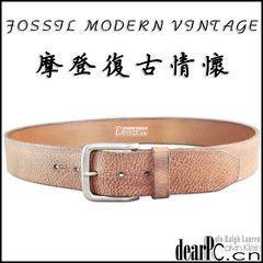 Fossil men's female leather wide belt buckle all-match fashion Korean American head layer cowhide belt