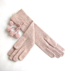 Kraska autumn winter Department of women's cashmere gloves wring lengthened rabbit flocculus in the long section of woolen gloves