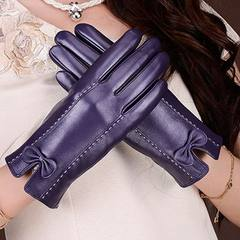 Grade a sheepskin gloves, female autumn winter plus cashmere, warm palm, mobile phone, touch screen, pure leather gloves