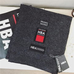 Tide brand HBA cashmere blended yarn knitted scarf to keep warm warm and thick wool scarf of lovers