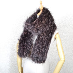 European version of the new Fox Fur Collar 2017 autumn and winter female fox scarf lengthened and thickened double knitting