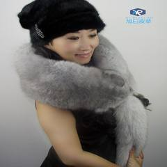 The new silver blue fox fur special offer whole collar styles of men and women real fur Fox Fur Scarf Shawl