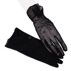 开车防紫外线薄款短款冰丝夏季女防晒蕾丝防滑手套新款套