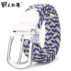 Spring and summer sports, sports, leisure, elastic, elastic, braided belts, canvas belts, jeans, fine men, ladies 0593-9 105cm