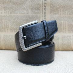 Mail, clearance, pin, buckle, leather, Mens belt, lengthened belt, 160cm lengthened belt, business suit, ox belt 1 Button Black 150cm