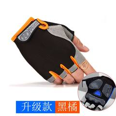 Fitness gloves, male and female fingers training equipment, parallel bars, pull up, dumbbell, anti skid exercise, sports upgrade, black orange