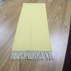 08101 cashmere wool blended light shrink cashmere yellow scarf Light yellow